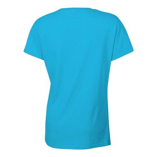 Custom Printed Bella + Canvas 6035 Ladies' Short Sleeve Deep V-Neck Jersey Tee - 23 - Back View | ThatShirt