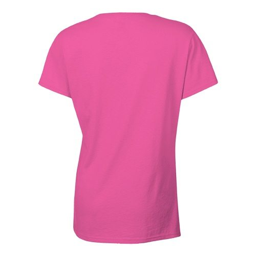 Custom Printed Bella + Canvas 6405 Ladies' Relaxed Jersey Short Sleeve V-Neck Tee - Berry - Back View | ThatShirt
