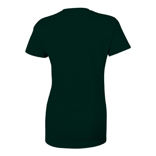 Custom Printed Bella + Canvas 8413 Ladies' Tri-Blend  T-shirt - Emerald Triblend - Back View   ThatShirt