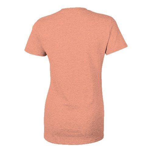 Custom Printed Bella + Canvas 8413 Ladies' Tri-Blend  T-shirt - 12 - Back View | ThatShirt