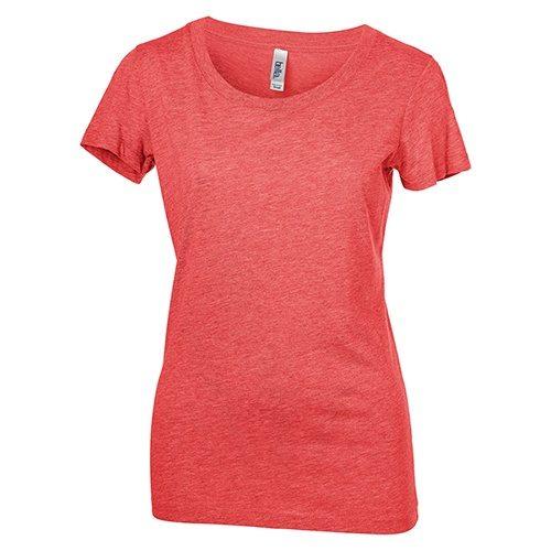 Custom Printed Bella + Canvas 8413 Ladies' Tri-Blend  T-shirt - Front View | ThatShirt