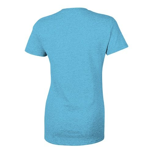 Custom Printed Bella + Canvas 8435 Ladies' Triblend Deep V-Neck Tee - 1 - Back View | ThatShirt