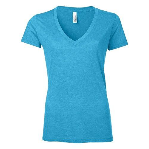 Custom Printed Bella + Canvas 8435 Ladies' Triblend Deep V-Neck Tee - Front View | ThatShirt