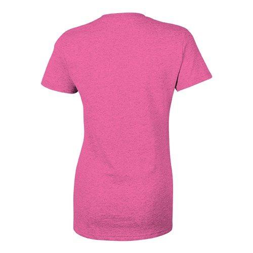 Custom Printed Bella + Canvas 8435 Ladies' Triblend Deep V-Neck Tee - Berry Triblend - Back View | ThatShirt