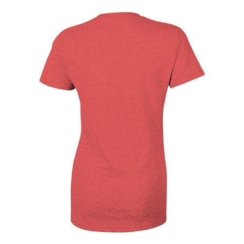 Custom Printed Bella + Canvas 8435 Ladies' Triblend Deep V-Neck Tee - 8 - Back View | ThatShirt