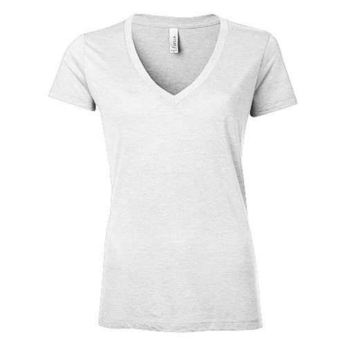 Custom Printed Bella + Canvas 8435 Ladies' Triblend Deep V-Neck Tee - Front View | ThatShirt