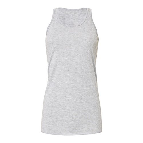 Custom Printed Bella + Canvas B8800 Ladies' Flowy Racerback Tank - Front View | ThatShirt