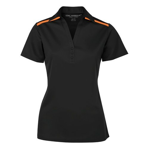 Custom Printed Coal Harbour L4008 Ladies' Everyday Colour Block Sport Shirt - 1 - Front View | ThatShirt