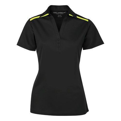 Custom Printed Coal Harbour L4008 Ladies' Everyday Colour Block Sport Shirt - Front View | ThatShirt