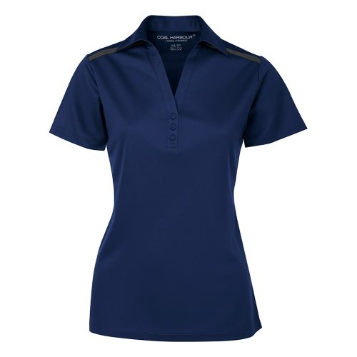 Custom Printed Coal Harbour L4008 Ladies' Everyday Colour Block Sport Shirt - Front View   ThatShirt