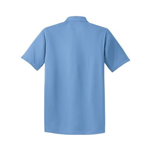 Custom Printed Coal Harbour S4006 Snag Resistant Contrast Stitch Sport Shirt - Blue Lake / Iron Grey - Back View | ThatShirt