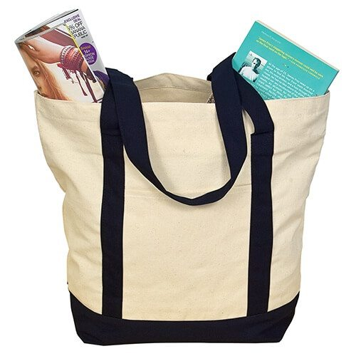 Custom Printed Debco E3000 Two-Tone Tote Bag - 0 - Back View | ThatShirt