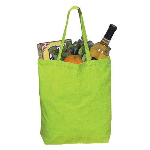 Custom Printed Debco E4691 Cotton Tote Bag - 3 - Back View | ThatShirt