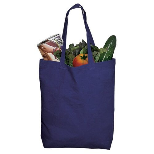 Custom Printed Debco E4691 Cotton Tote Bag - Front View | ThatShirt