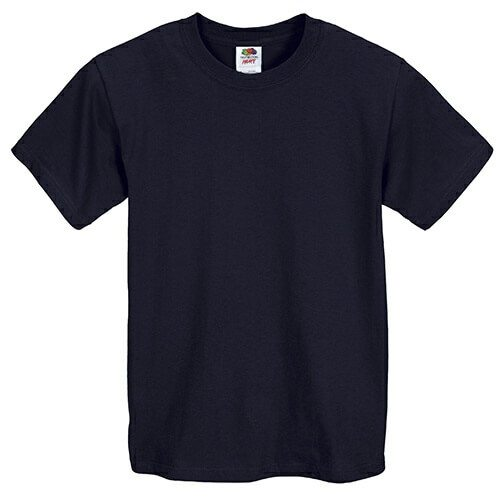 Custom Printed Fruit of the Loom 3930BR Youth Heavy Cotton HD T-Shirt - 12 - Front View | ThatShirt