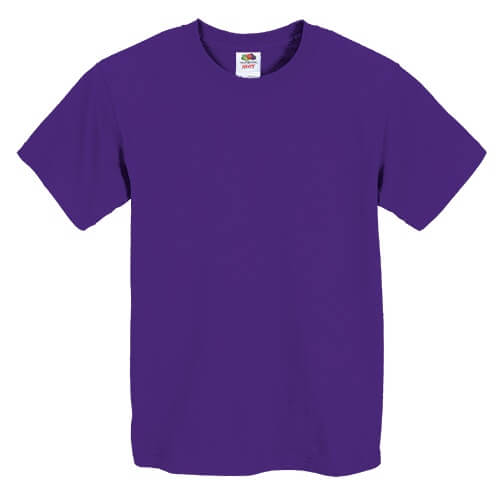 Custom Printed Fruit of the Loom 3930BR Youth Heavy Cotton HD T-Shirt - Front View   ThatShirt
