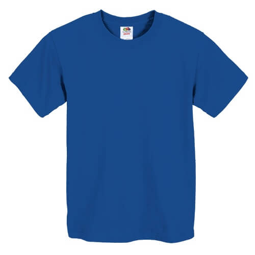 Custom Printed Fruit of the Loom 3930BR Youth Heavy Cotton HD T-Shirt - Front View | ThatShirt