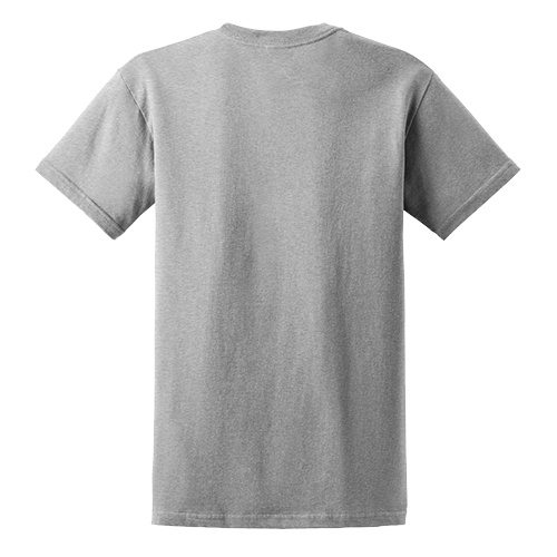 Custom Printed Fruit of the Loom 3930R Heavy Cotton HD T-Shirt - 2 - Back View   ThatShirt
