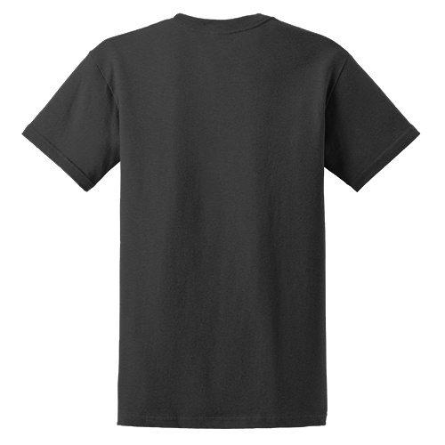 Custom Printed Fruit of the Loom 3930R Heavy Cotton HD T-Shirt - Charcoal Grey - Back View   ThatShirt