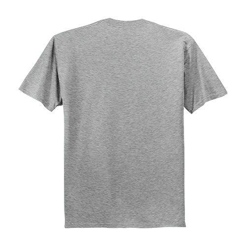 Custom Printed Fruit of the Loom 39VR Heavy Cotton HD V-Neck T-Shirt - 0 - Back View | ThatShirt