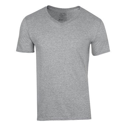 Custom Printed Fruit of the Loom 39VR Heavy Cotton HD V-Neck T-Shirt - Front View | ThatShirt