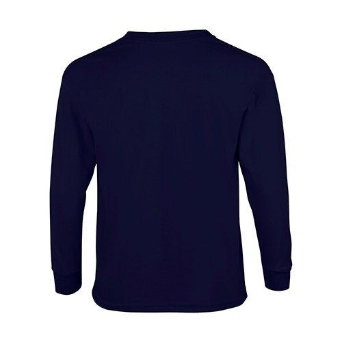 Custom Printed Fruit of the Loom 4930BR Youth Heavy Cotton HD Long-Sleeve T-Shirt - 4 - Back View | ThatShirt