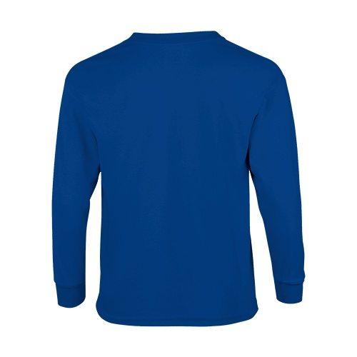 Custom Printed Fruit of the Loom 4930BR Youth Heavy Cotton HD Long-Sleeve T-Shirt - 5 - Back View | ThatShirt