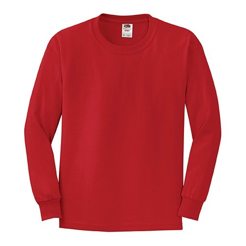 Fruit of the Loom 4930BR Youth Heavy Cotton HD Long-Sleeve T-Shirt