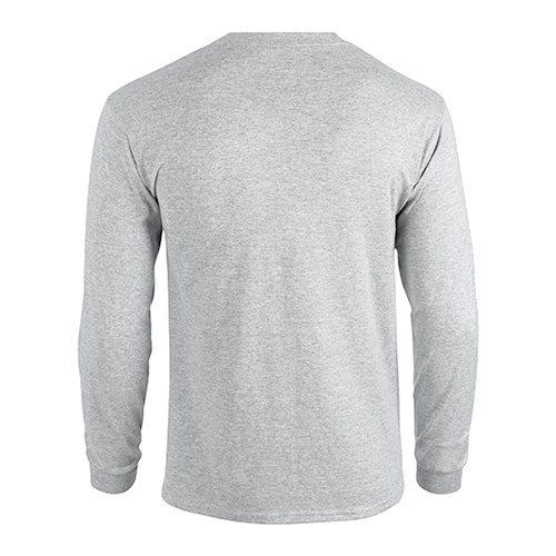 Custom Printed Fruit of the Loom 4930R Heavy Cotton HD Long Sleeve T-shirt - 1 - Back View | ThatShirt