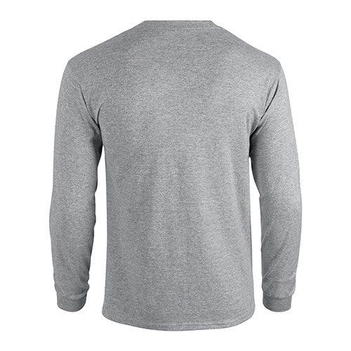 Custom Printed Fruit of the Loom 4930R Heavy Cotton HD Long Sleeve T-shirt - 2 - Back View   ThatShirt