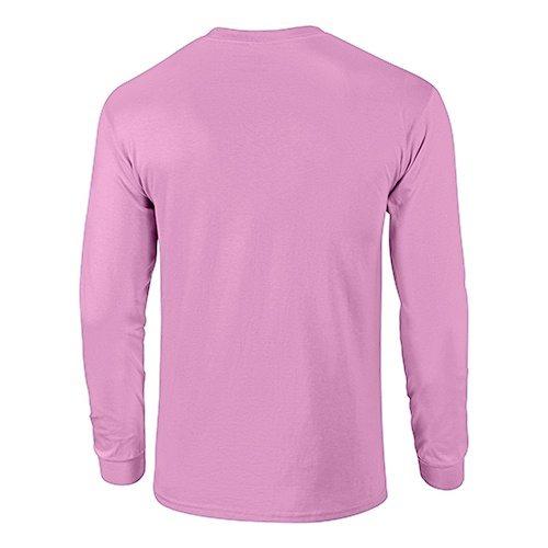 Custom Printed Fruit of the Loom 4930R Heavy Cotton HD Long Sleeve T-shirt - 0 - Back View | ThatShirt
