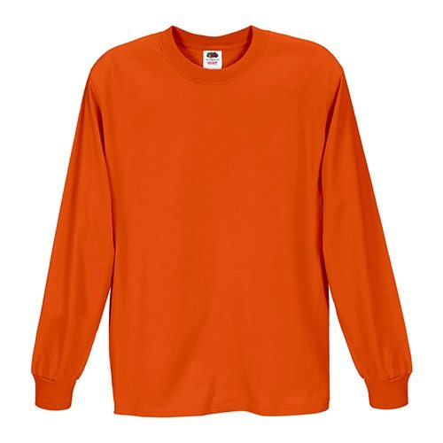 Custom Printed Fruit of the Loom 4930R Heavy Cotton HD Long Sleeve T-shirt - 5 - Front View | ThatShirt