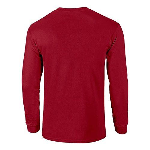 Custom Printed Fruit of the Loom 4930R Heavy Cotton HD Long Sleeve T-shirt - 6 - Back View | ThatShirt