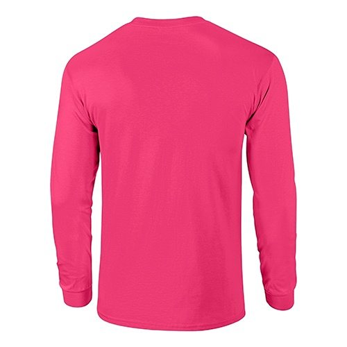 Custom Printed Fruit of the Loom 4930R Heavy Cotton HD Long Sleeve T-shirt - 8 - Back View | ThatShirt