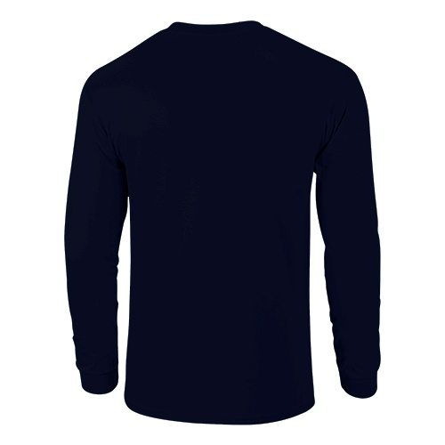 Custom Printed Fruit of the Loom 4930R Heavy Cotton HD Long Sleeve T-shirt - 10 - Back View   ThatShirt