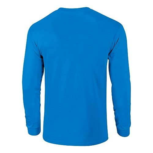 Custom Printed Fruit of the Loom 4930R Heavy Cotton HD Long Sleeve T-shirt - 12 - Back View | ThatShirt