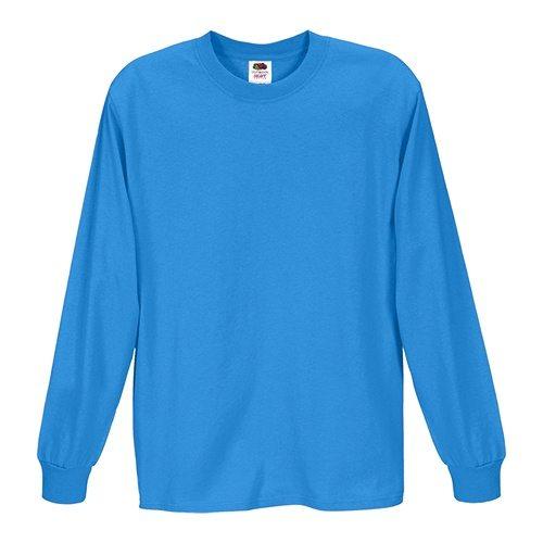 Custom Printed Fruit of the Loom 4930R Heavy Cotton HD Long Sleeve T-shirt - Front View | ThatShirt