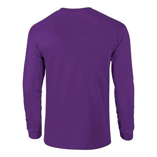 Custom Printed Fruit of the Loom 4930R Heavy Cotton HD Long Sleeve T-shirt - 13 - Back View | ThatShirt