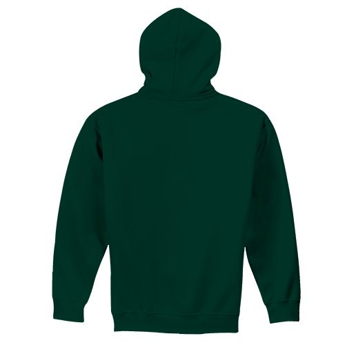 Custom Printed Fruit of the Loom 82230r Supercotton Full Zip Hooded Sweatshirt - 3 - Back View | ThatShirt