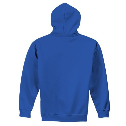 Custom Printed Fruit of the Loom 82230r Supercotton Full Zip Hooded Sweatshirt - 5 - Back View | ThatShirt