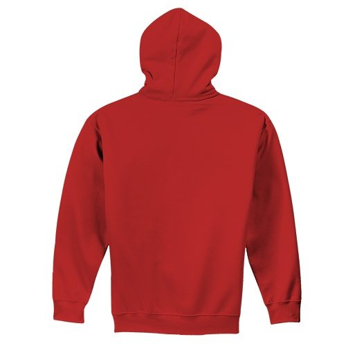Custom Printed Fruit of the Loom 82230r Supercotton Full Zip Hooded Sweatshirt - 0 - Back View | ThatShirt