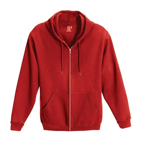Custom Printed Fruit of the Loom 82230r Supercotton Full Zip Hooded Sweatshirt - Front View | ThatShirt