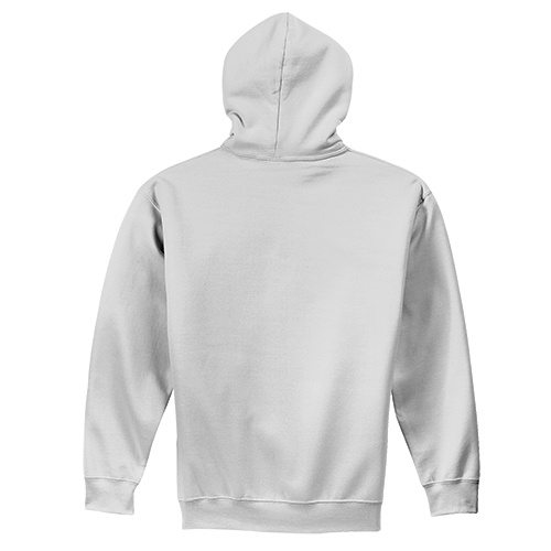 Custom Printed Fruit of the Loom 82230r Supercotton Full Zip Hooded Sweatshirt - 6 - Back View | ThatShirt