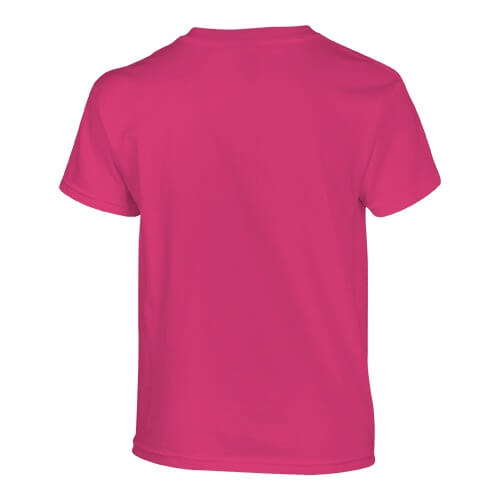 Custom Printed Fruit of the Loom HD6BY Youth Lofteez HD T-Shirt - Cyber Pink - Back View | ThatShirt