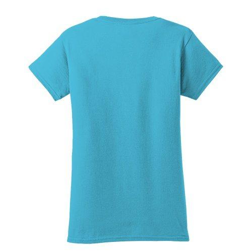 Custom Printed Fruit of the Loom L3930R Ladies' Heavy Cotton HD T-Shirt - 0 - Back View | ThatShirt