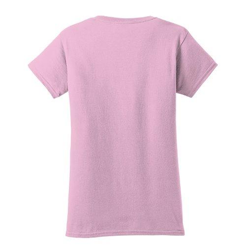 Custom Printed Fruit of the Loom L3930R Ladies' Heavy Cotton HD T-Shirt - 6 - Back View | ThatShirt