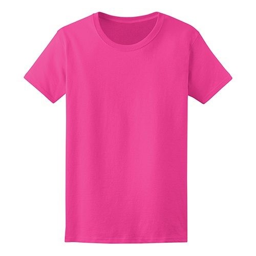 Custom Printed Fruit of the Loom L3930R Ladies' Heavy Cotton HD T-Shirt - 7 - Front View | ThatShirt