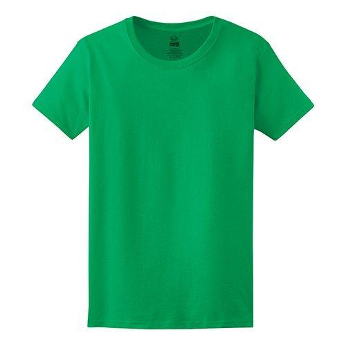 Custom Printed Fruit of the Loom L3930R Ladies' Heavy Cotton HD T-Shirt - Front View   ThatShirt