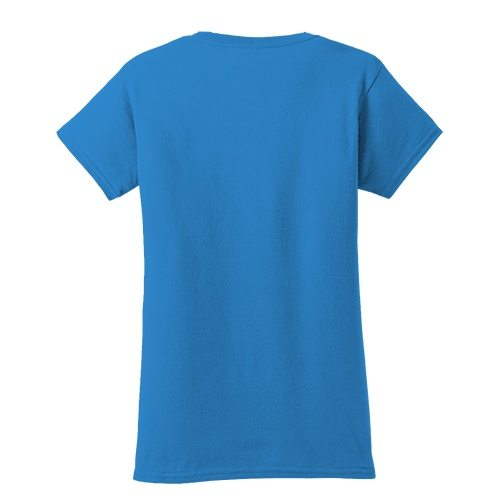 Custom Printed Fruit of the Loom L3930R Ladies' Heavy Cotton HD T-Shirt - 14 - Back View | ThatShirt