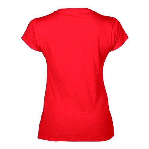 Custom Printed Fruit of the Loom L39VR Ladies' Heavy Cotton HD V-Neck T-Shirt - 4 - Back View | ThatShirt